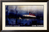 Cunard Line, Mauretania to Cherbourg Framed Giclee Print by Kenneth Shoesmith