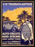 North African Michelin Tire Tour Framed Giclee Print by Bernard Villemot