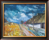 Thatched Cottages at the Roadside Art by Maurice Vlaminck