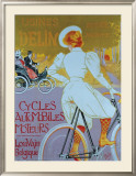 Cycles Delin Framed Giclee Print by Georges Gaudy