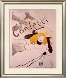 Confetti Framed Giclee Print by Henri de Toulouse-Lautrec