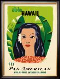 Aloha Hawaii Framed Giclee Print by Edward McKnight Kauffer