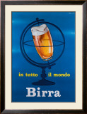 In Tutto il Mondo Birra Framed Giclee Print by E. Arvati
