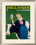 Hollandia Milk Framed Giclee Print by Rene Lelong
