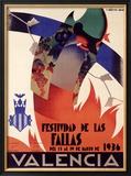 Festividad de Fallas Valencia Framed Giclee Print by Arturo Ballester