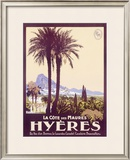 Travel to Hyeres France Framed Giclee Print