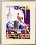 Concorso di Eleganza Per Automobili Framed Giclee Print by F Romoli