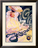 Cafe Jacqmotte Framed Giclee Print by Fernand Toussaint