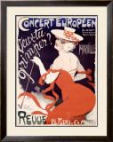 Concert Europeen Veux, Tu Grimper Framed Giclee Print by Jules-Alexandre Grün