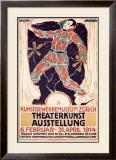 Theaterkunst Ausstellung Framed Giclee Print by Carl Roesch