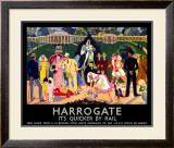 Harrogate, LNER Poster, 1934 Framed Giclee Print by Anna Katrina Zinkeisen
