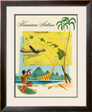 Fly Hawaiian Airlines Framed Giclee Print