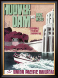 Union Pacific, Hoover Dam and Lake Mead Framed Giclee Print