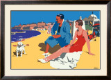 Whitley Bay Framed Giclee Print by Frank Newbould
