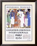 Exposition Coloniale, Paris 1931 Framed Giclee Print by Jacques de la Neziere