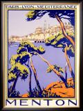 Menton Resort Plm Railway Framed Giclee Print