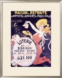Loterie Maison de Retraite Framed Giclee Print by Jules-Alexandre Grün