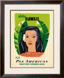 Aloha Hawaii Framed Giclee Print by Edward McKnight Kauffer