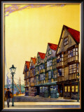 Bristol, Haunt of Long John Silver, Gwr/LMS Poste Framed Giclee Print by Wilhelm Burger