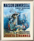 Maison Universelle Framed Giclee Print by B. Kaufmann