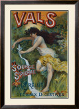 Eau Minerale Vals Framed Giclee Print by Courchez