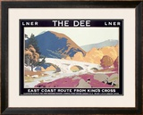 LNER, The Dee Framed Giclee Print by Frank Newbould
