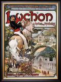 Luchon Framed Giclee Print by Emmanuel Brun