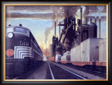 Ny Central Water Level Route Poster Framed Giclee Print by Raymond Savignac