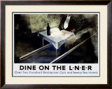 Dine on the Liner Framed Giclee Print by Alexander Alexeieff