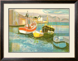 Boats in Harbor II Art by George Lambert