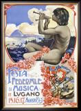Lugano Music Festival Framed Giclee Print
