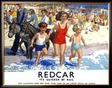 Redcar Framed Giclee Print by E Oakdale