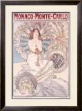 Monaco, Monte Carlo Framed Giclee Print