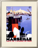 Marseille, Porte de l&#39;Afrique Framed Giclee Print by Roger Broders