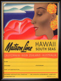 Matson Line, Hawaii and South Seas Framed Giclee Print