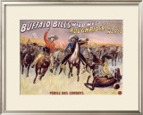 Perils des Cowboys Framed Giclee Print