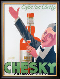 Whiski Chesky Framed Giclee Print by Delavat
