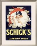 Schicks Deco Aperitif Wine Framed Giclee Print