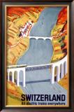 Electric Train Railway Framed Giclee Print