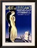 Nuit Elegance Framed Giclee Print by Aleardo Villa