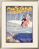 Monte Carlo Framed Giclee Print by Jules-Alexandre Grün