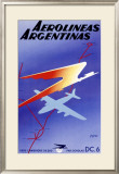 Argentina Airlines Framed Giclee Print