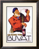 Les Bons Vins Buvat Framed Giclee Print by Leon Dupin