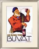 Les Bons Vins Buvat Framed Giclee Print by Leon Dupin
