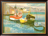 Boats in Harbor II Posters by George Lambert