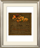 Chardonnay Wine Label Framed Giclee Print