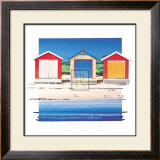 Boat Shed Colour Print by B. Walsh