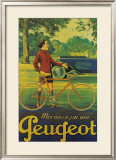 Cycles Peugeot Framed Giclee Print by Almery Lobel-riche