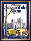 Automobile Show, Buffalo Framed Giclee Print by Claybaugh 
