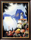 Castagnola Lake Lugano Resort Framed Giclee Print